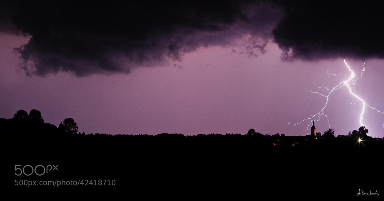Photograph Lightning over Hartpenning by Alexander Derenbach on 500px