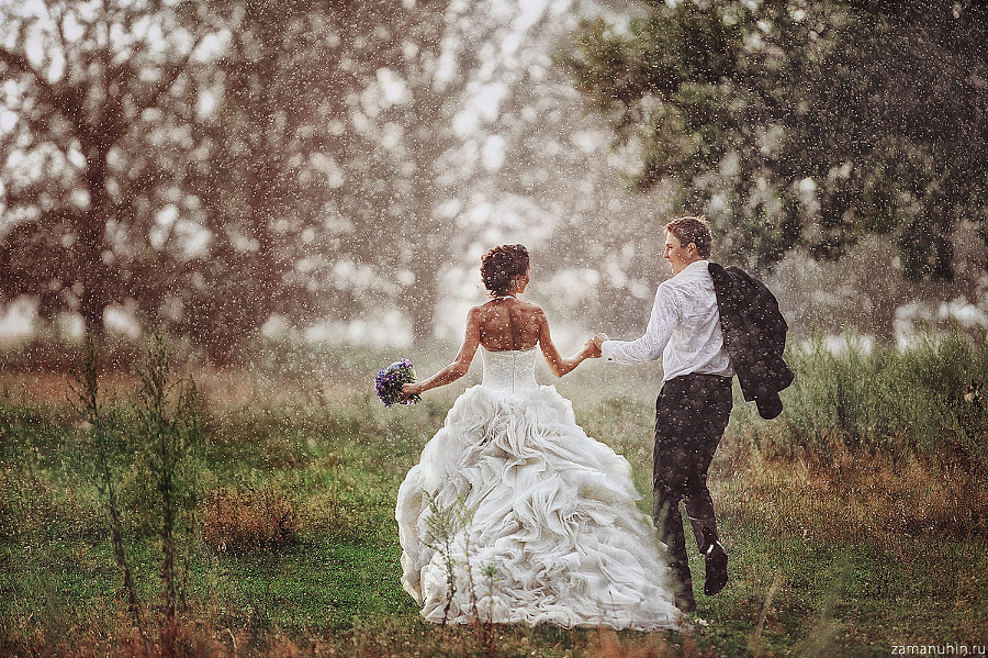 Wedding in the rain by Ivan Zamanuhin on 500px