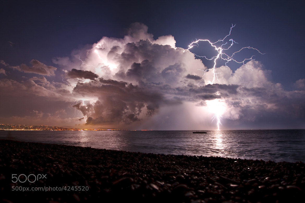 Photograph thunderstorm over nice by Philippe Tarbouriech on 500px