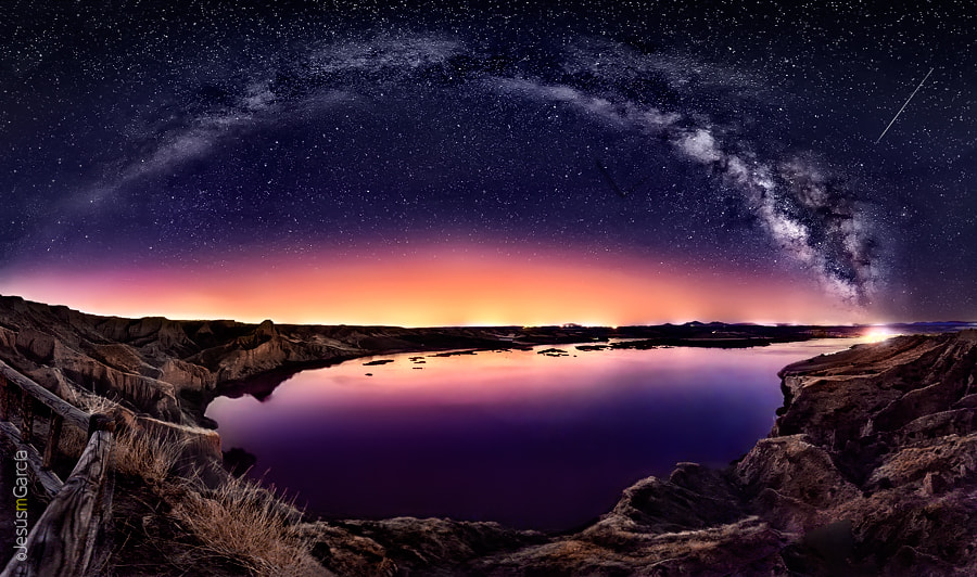 "Photograph Milky Way over ""Las Barrancas"" by Jesús M. García © on 500px"