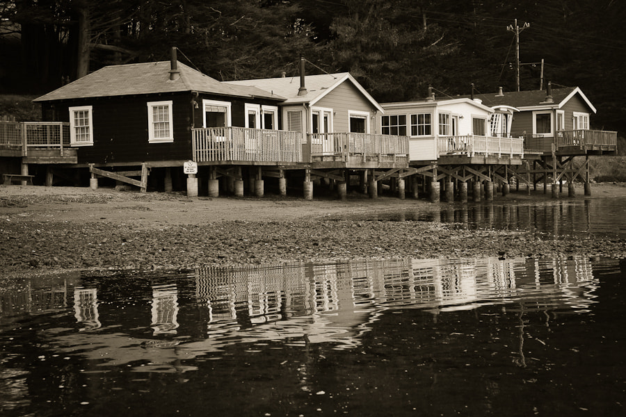 Photograph Cottages & Reflections, Black and White by Erik Pronske on 500px