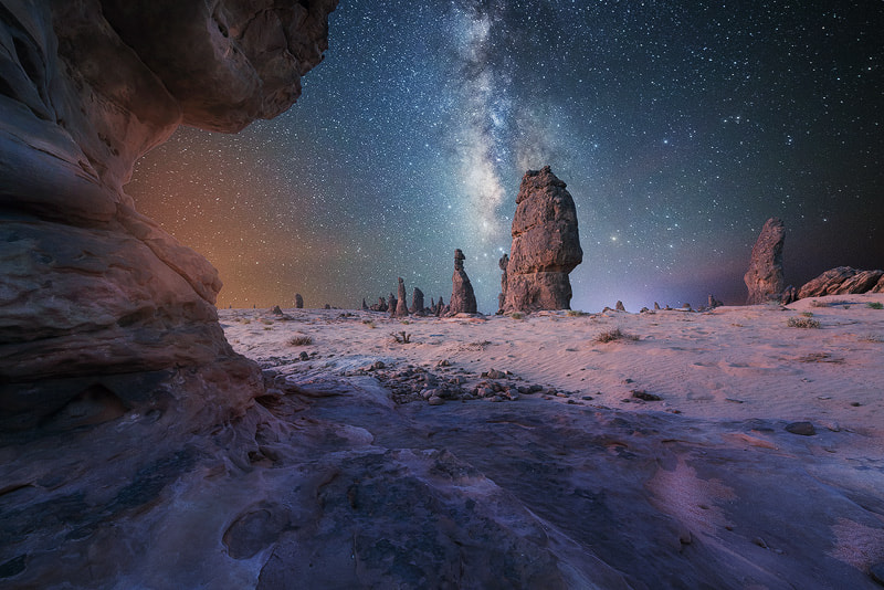 Photograph The Milky Way over Saudi Arabia by Nasser  AlOthman on 500px