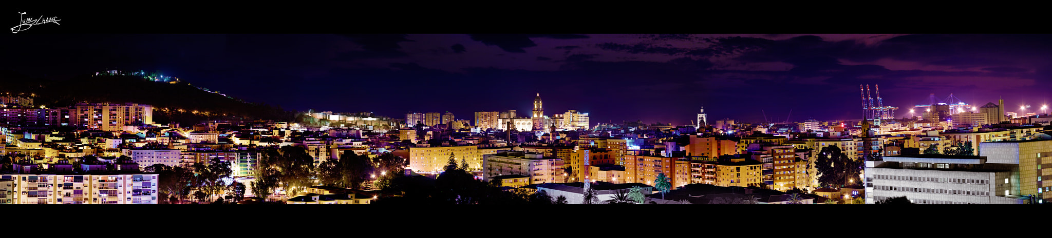 Photograph Panorámica nocturna de Málaga by Juan Chaves on 500px