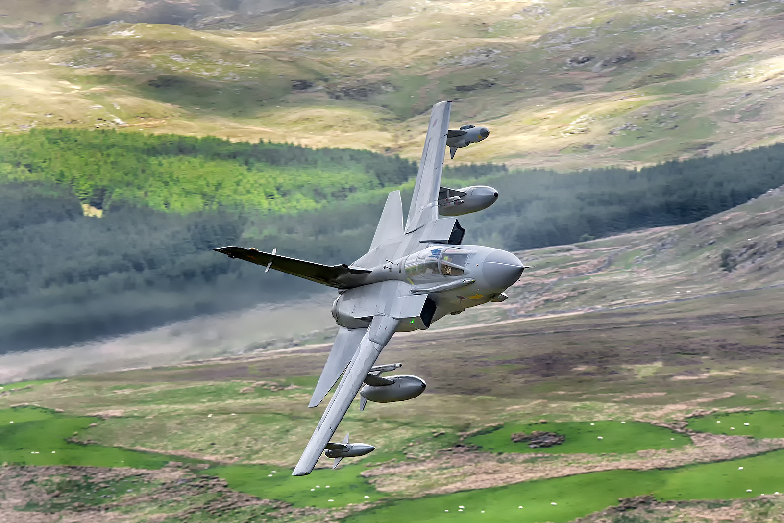 Photograph Low Flying Aircraft in the Mach Loop in Wales by Ian Schofield on 500px