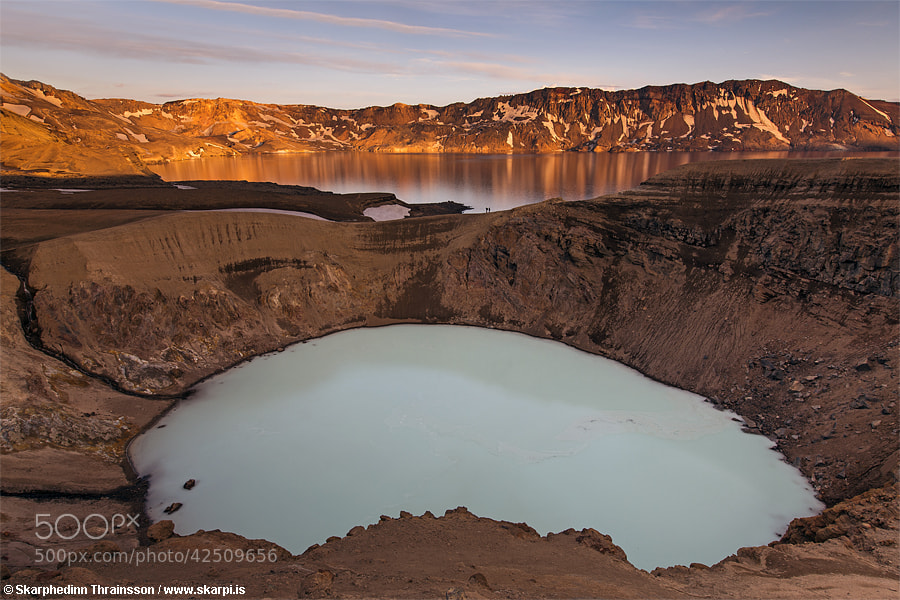 Photograph Viti (Hell) Crater in Askja Stratovolcano by Skarpi Thrainsson on 500px