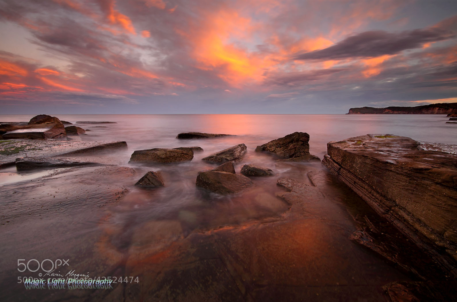 Photograph Terrigal Haven Rocks Sunset by Kevin Morgan on 500px