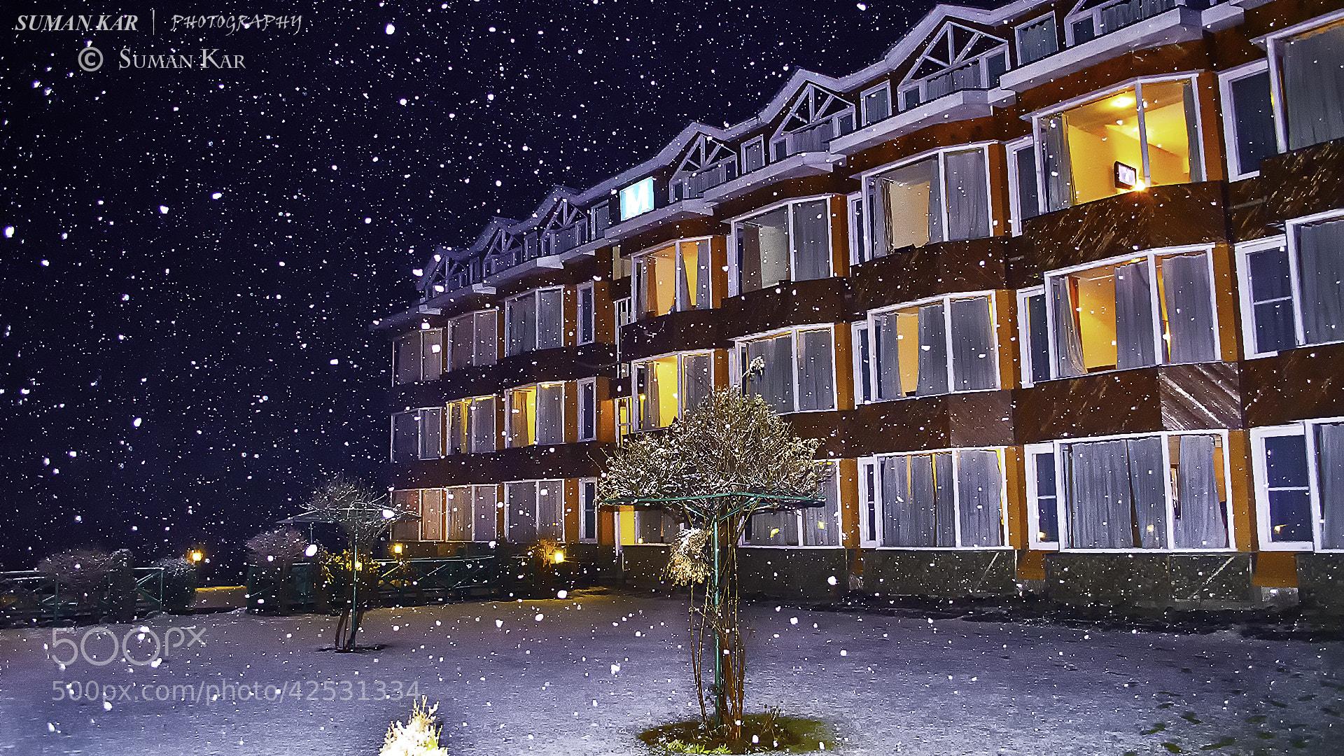 Photograph A snowy evening by Suman Kar on 500px