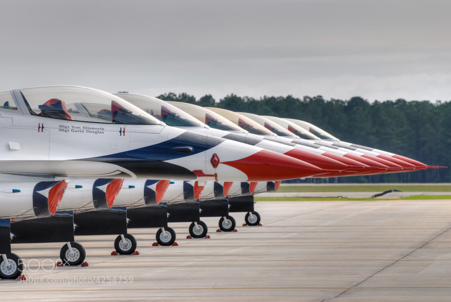 The USAF Thunderbirds at Moody AFB.