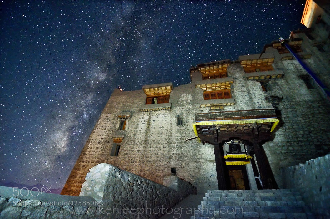 Photograph Leh Palace Milky Way by Ken Lee on 500px