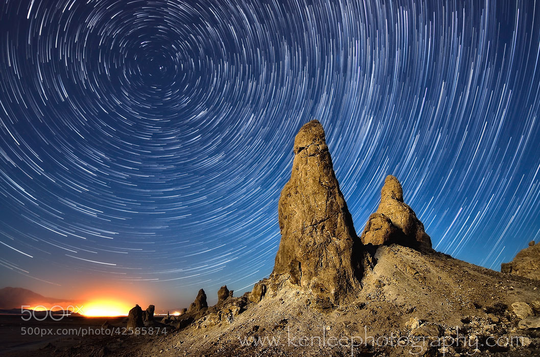 Photograph Trona Glow Star Trails by Ken Lee on 500px