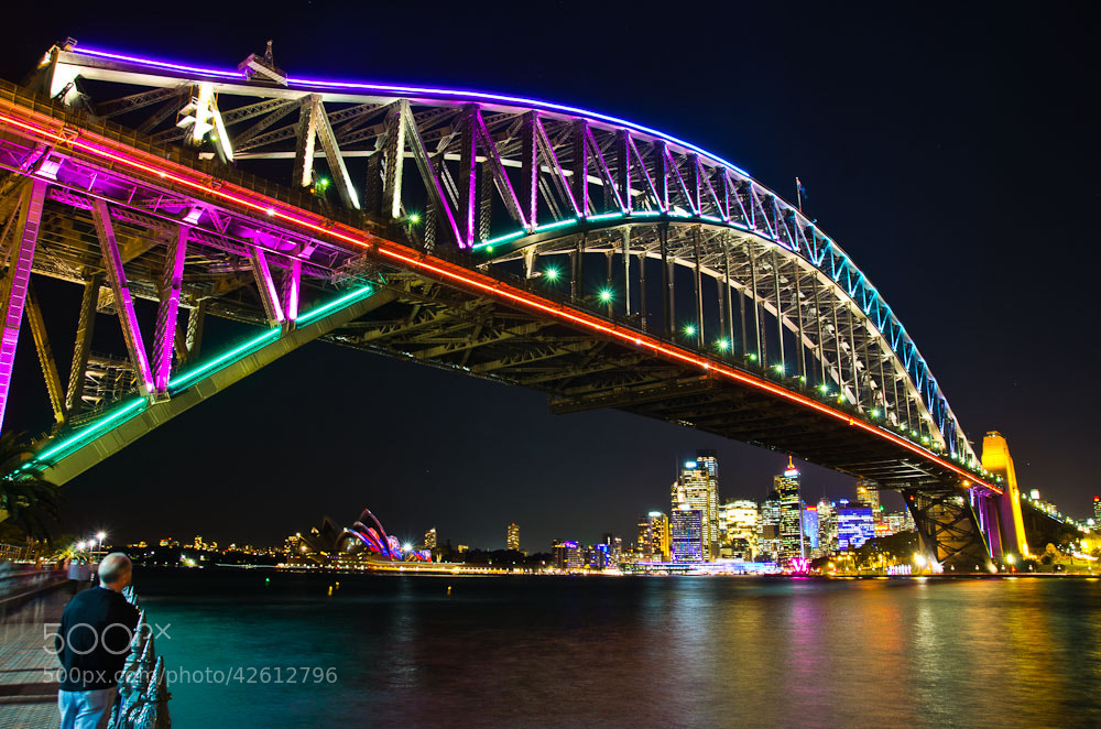 Photograph Neon Bridge by Chris Jones on 500px