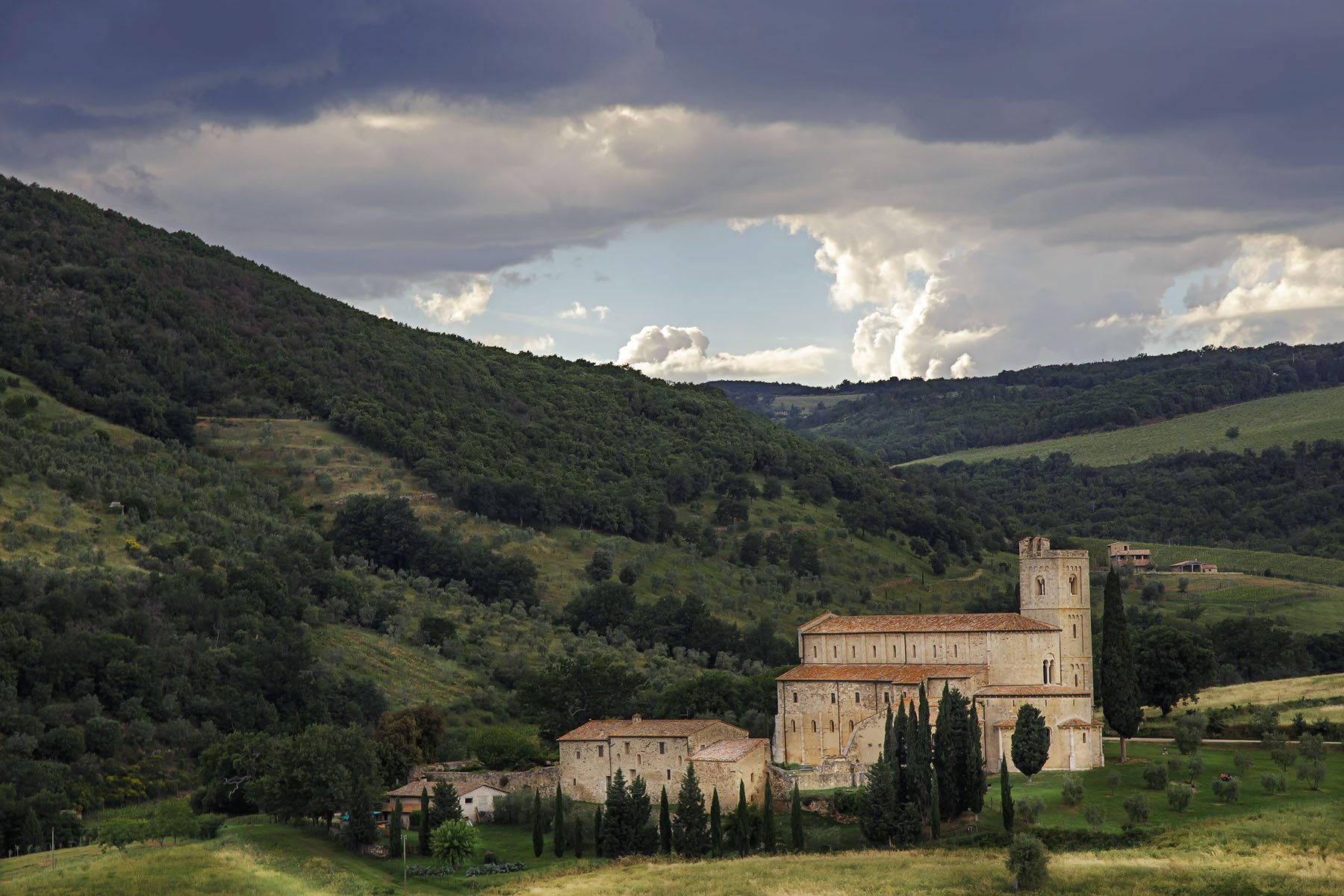 Photograph The Abbey of Sant'Antimo by nick mangiardi on 500px