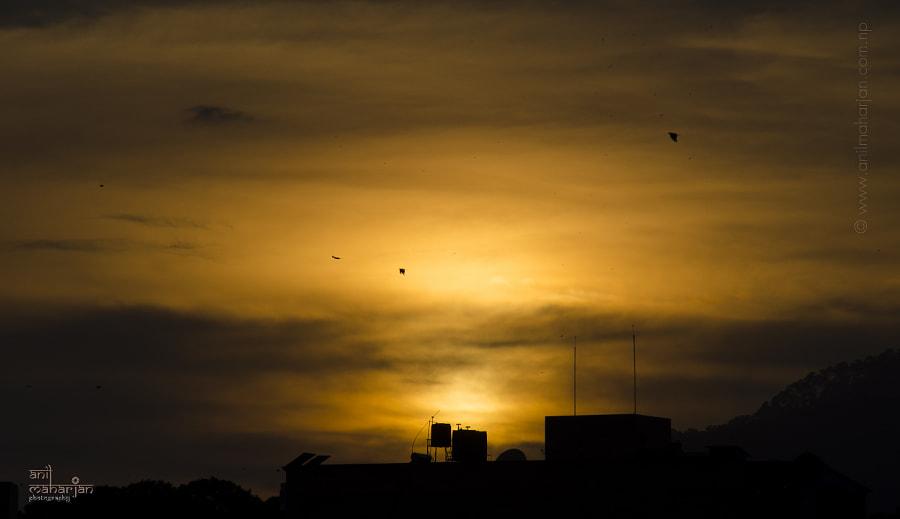 Evening Sky by Anil Maharjan / 500px   @500px