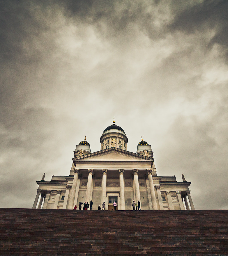 Photograph Cloudy day at the church by Iiro  Rautiainen on 500px