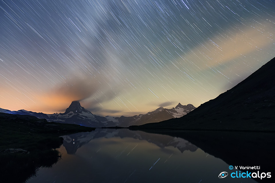 Photograph Matterhorn Startrails by Vittorio Vaninetti on 500px