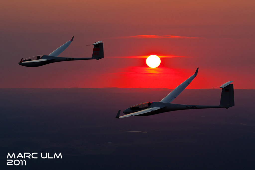 Photograph Glider sunset air to air by Marc Ulm on 500px