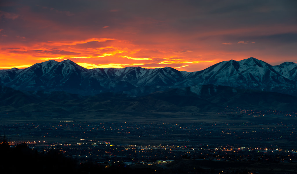 Photograph Oquirrh Mountains at Sunset by Mike Last on 500px