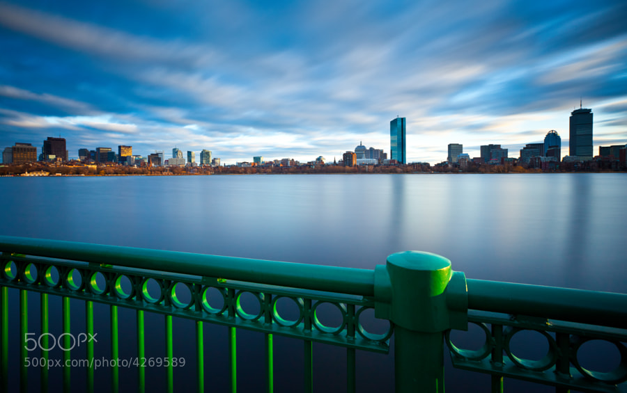 Boston on a late afternoon by the Charles River