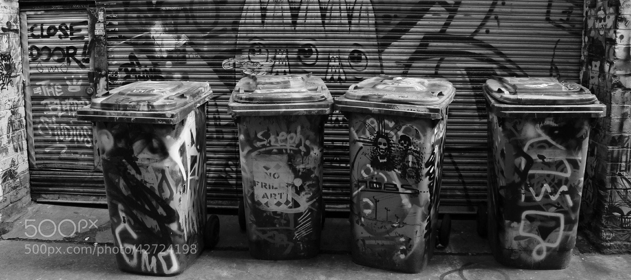 Photograph Graffiti Bins by Meg T on 500px