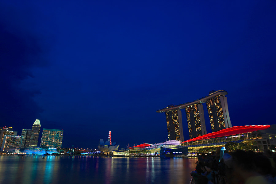 Colourful Blue Hour of Marina Bay