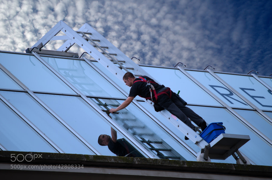 Photograph working in the sky by Gunter Werner on 500px