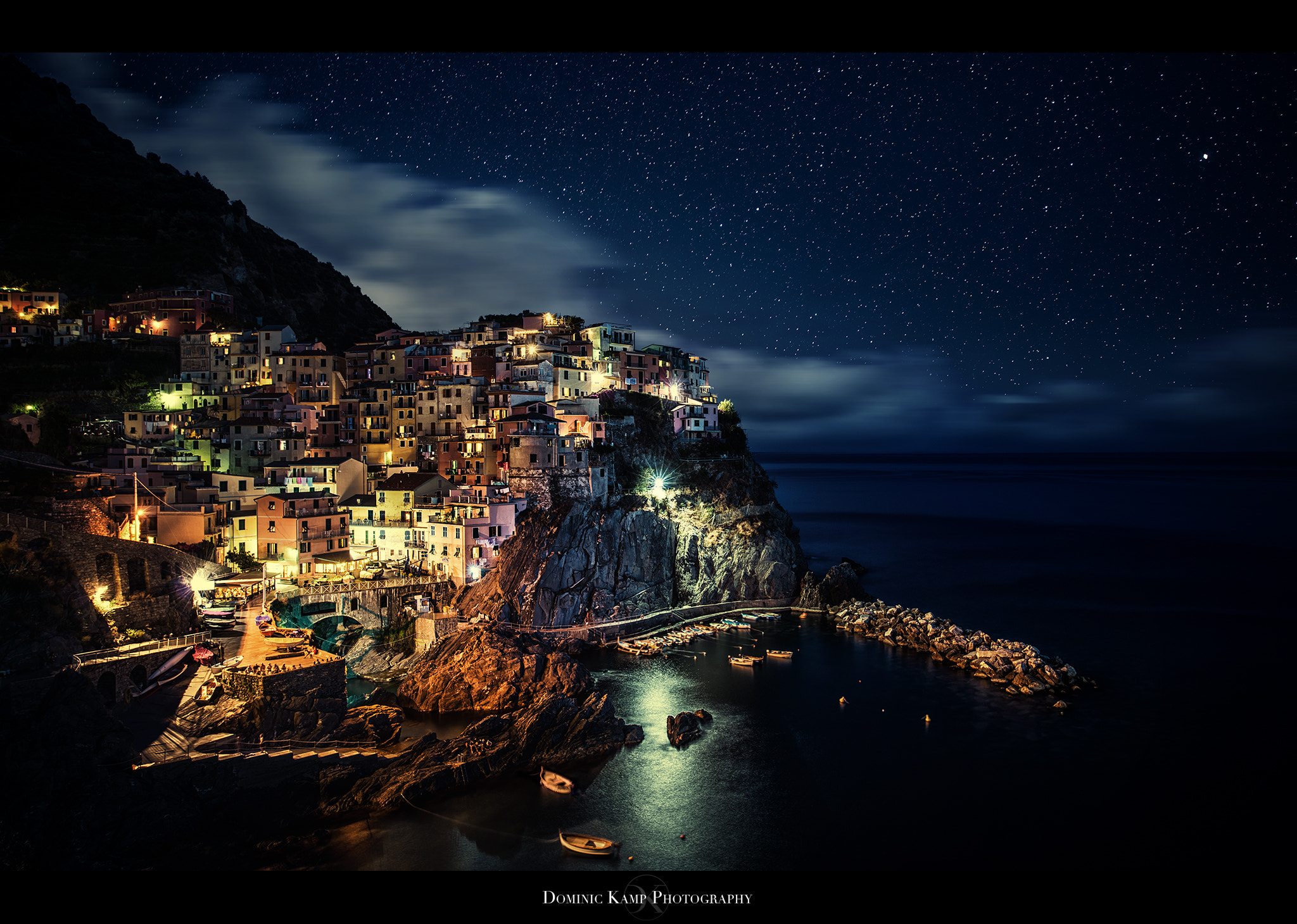 Photograph Midnight in Manarola by Dominic Kamp on 500px