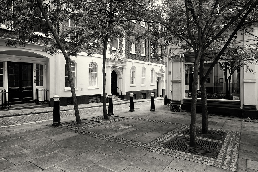 Square near Apothecaries Hall, London