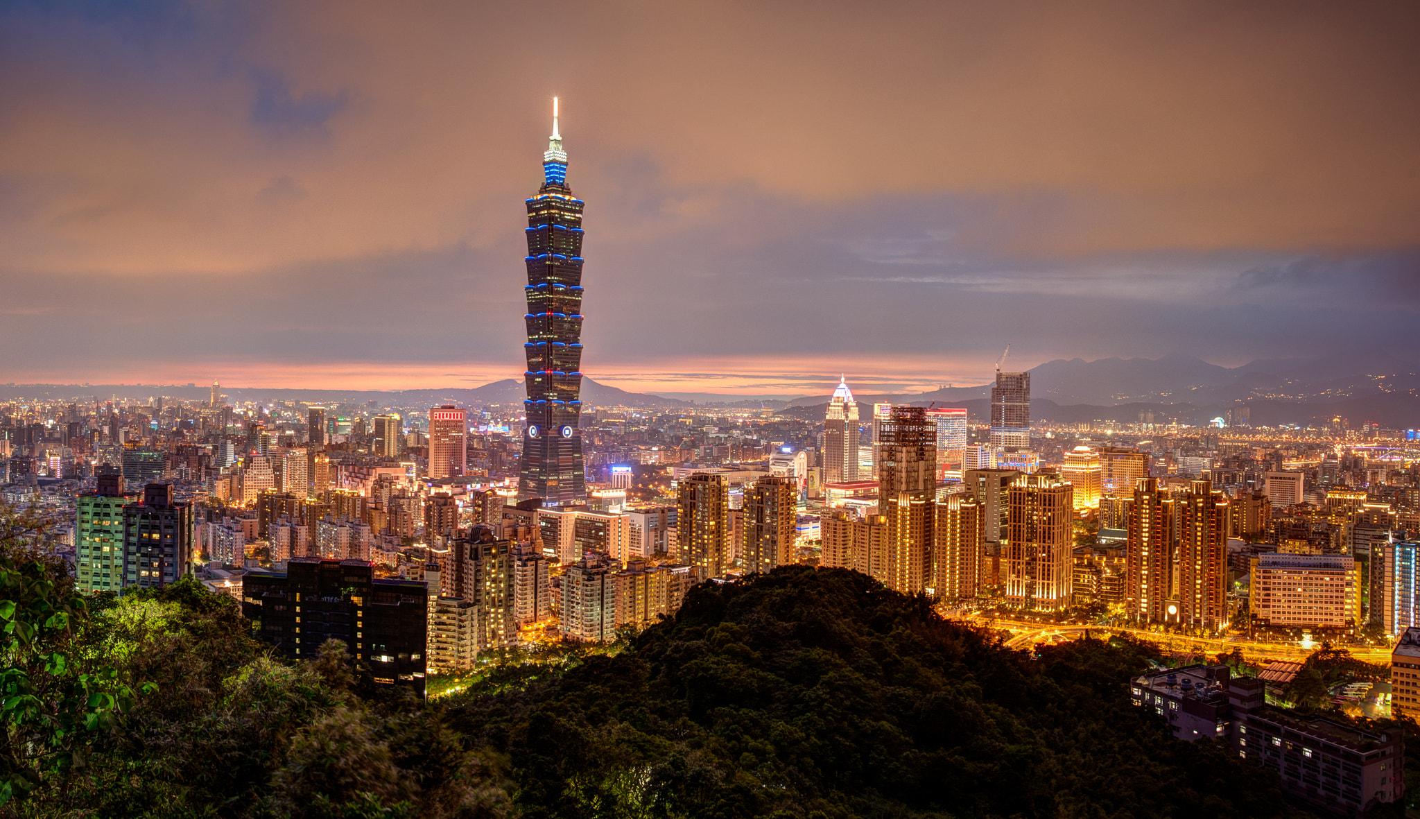 Photograph Taipei Skyline from Elephant Mountain by Dave Wilson on 500px