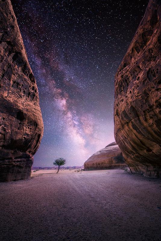 Desert near the oasis city of Al-Ula, Saudi Arabia