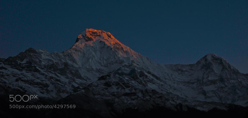 Photograph Sun rise on Annapurna ranges Nepal by Lok ng on 500px