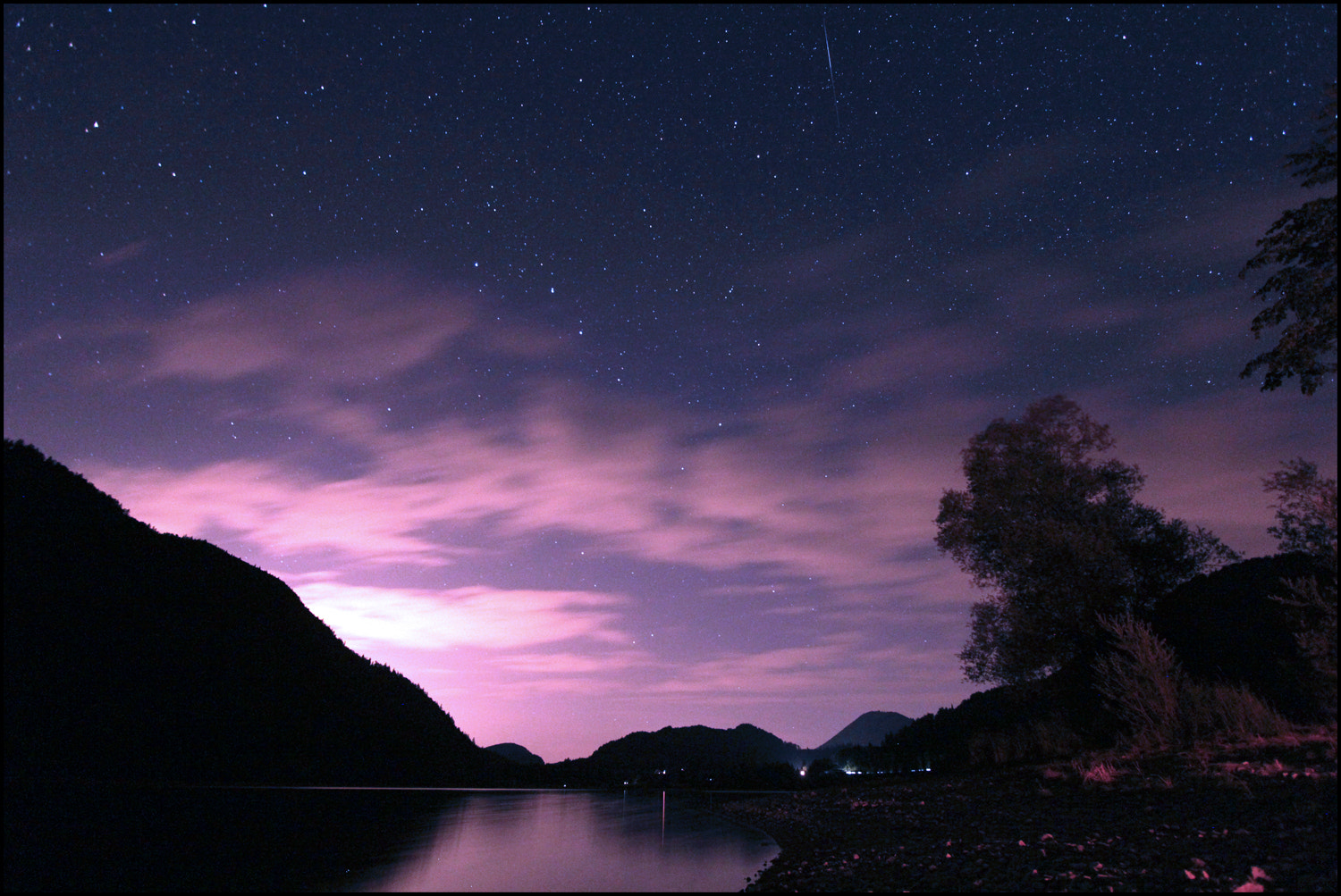 Photograph Hintersee x small shooting star by Mex Brunner on 500px