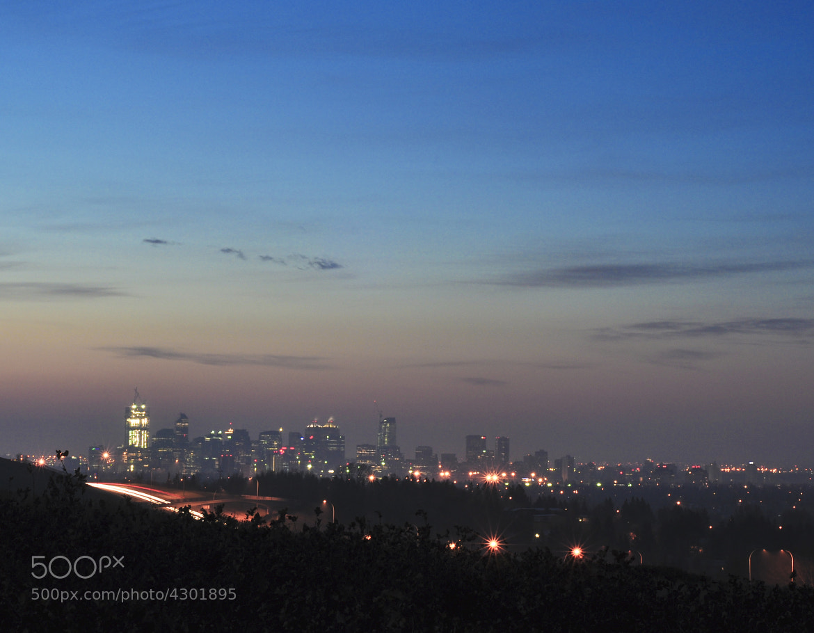 Photograph Calgary morning skyline at Nosehill by Michael Mckinney on 500px