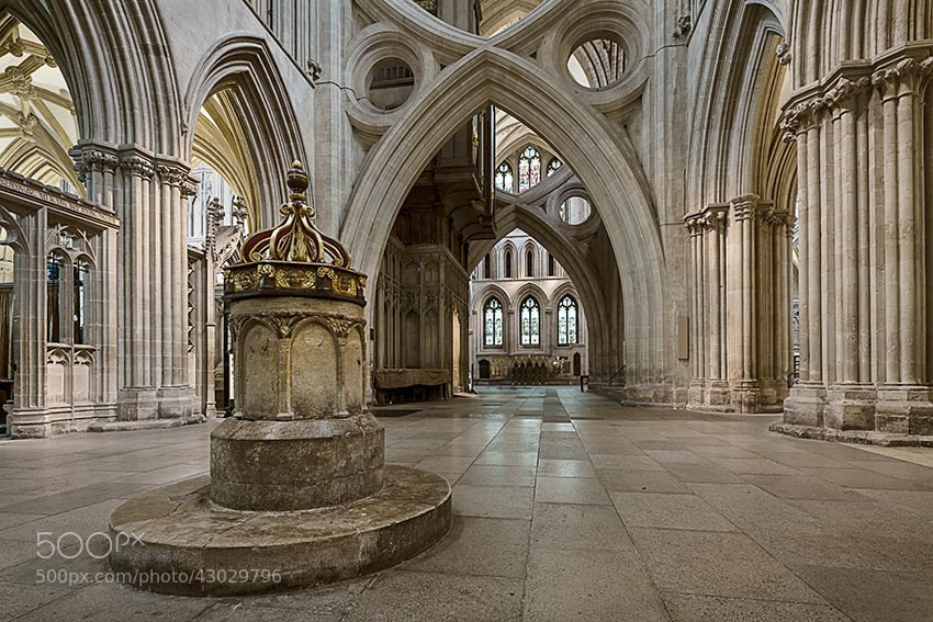 Photograph Wells Cathedral Font by Jeff Morgan on 500px