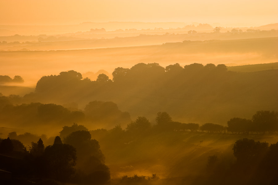 Photograph Dawn over Eggardon by Steve Luck on 500px
