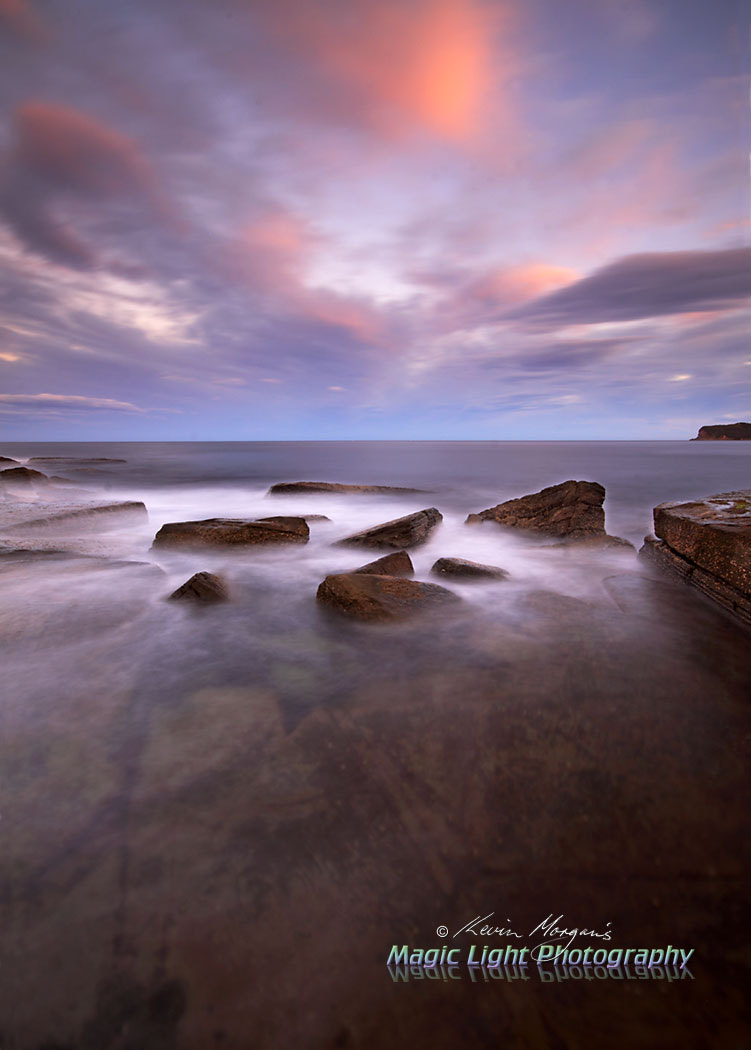 Photograph Terrigal Skillion Rocks Sunset by Kevin Morgan on 500px