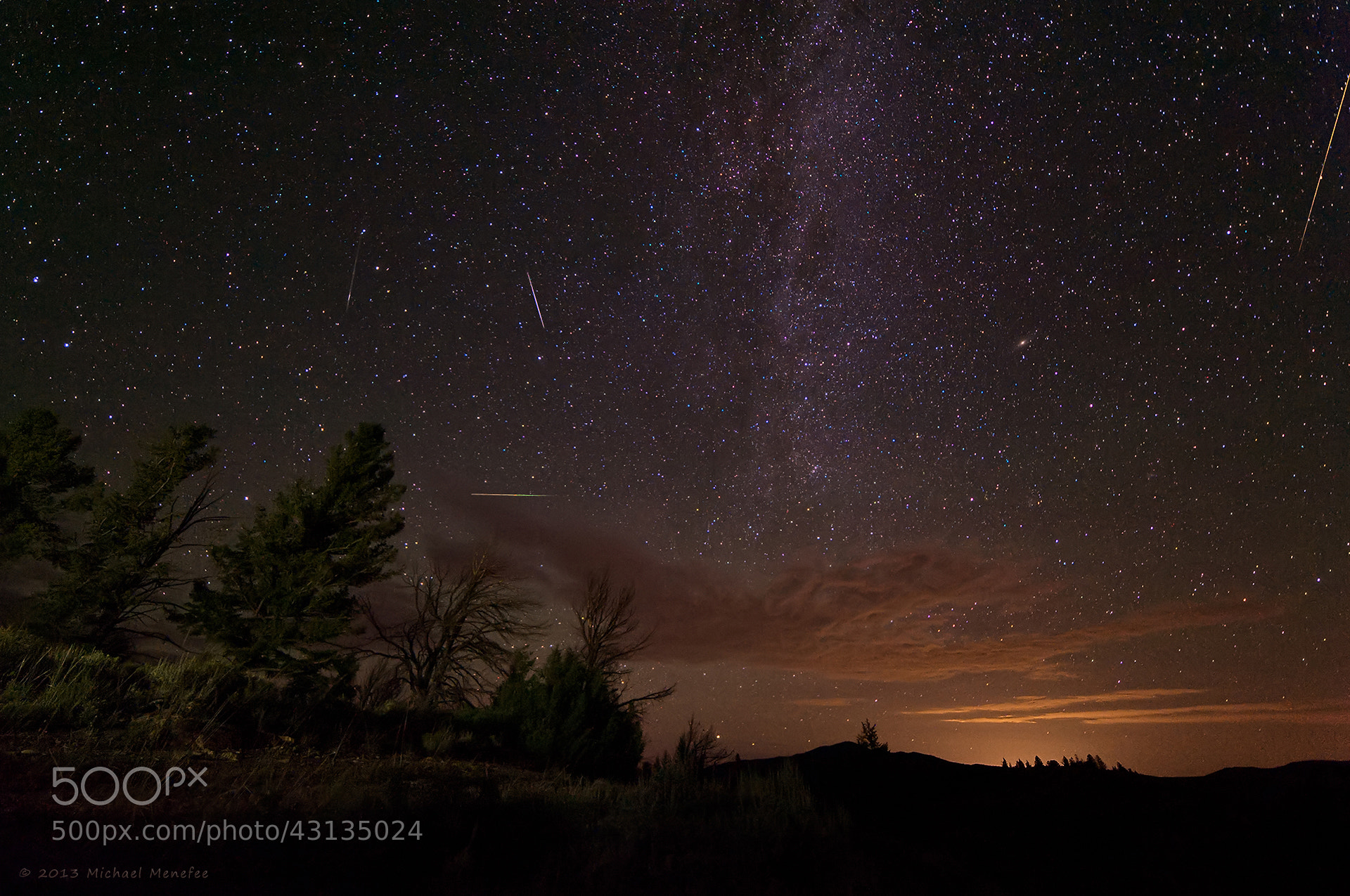 Photograph Perseids Before the Clouds by Michael Menefee on 500px