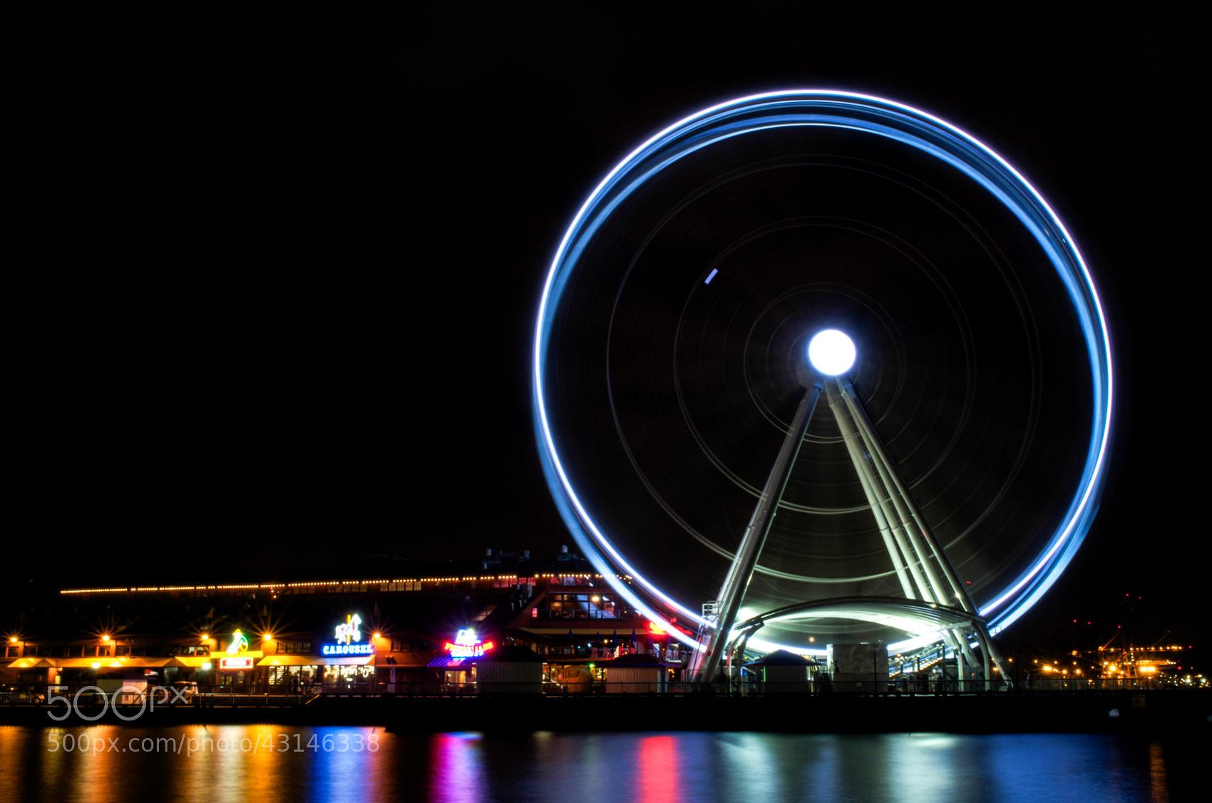 Photograph Seattle Great Wheel. by Daniel DuBois on 500px