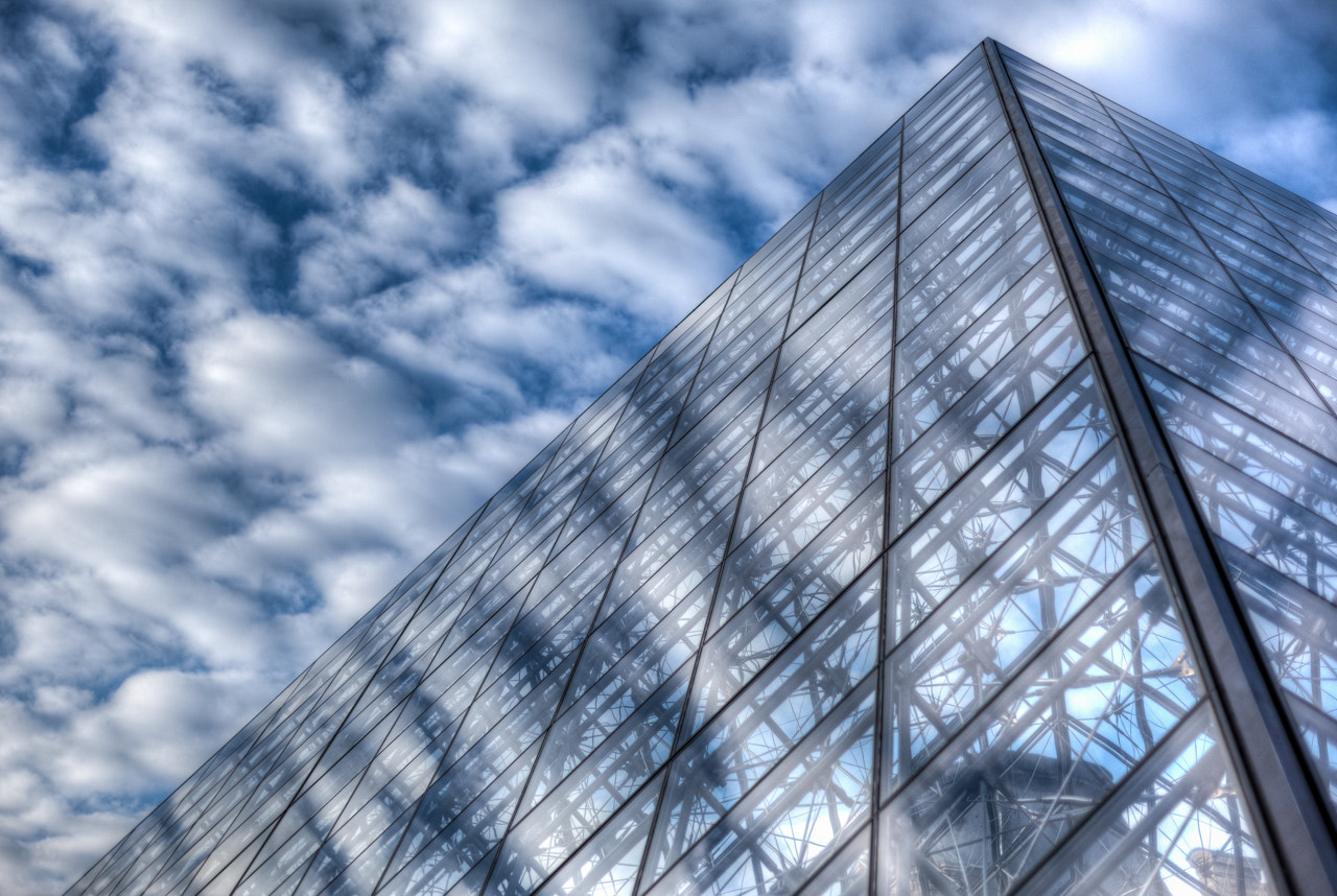 Photograph Glass Pyramid and the Sky by  W Brian Duncan on 500px