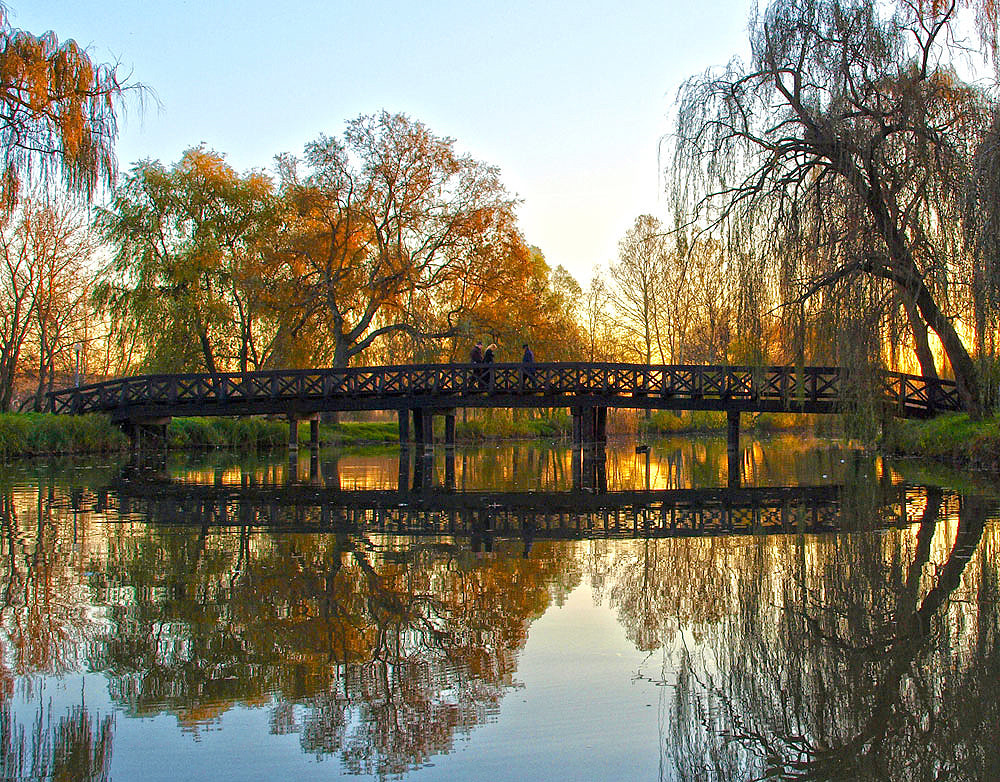 Photograph Bridge in autumn by Aldebaran Aldebaran on 500px