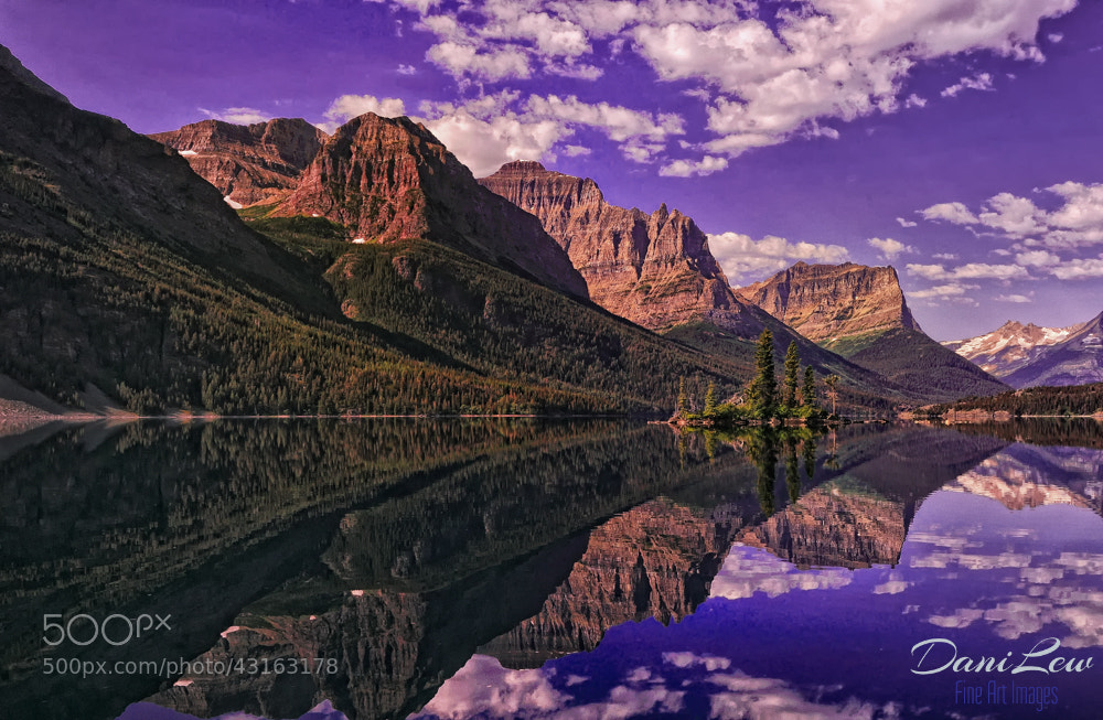 Photograph Sexton Glacier reflections in St. Mary Lake of Glacier National by Danielle Lewis on 500px