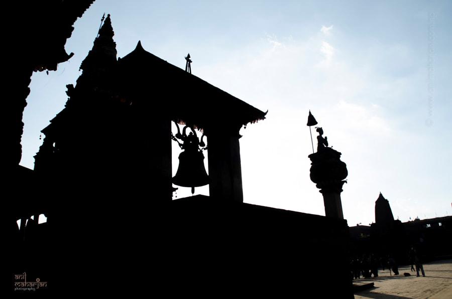 Bhaktapur silhouette by Anil Maharjan / 500px | @500px