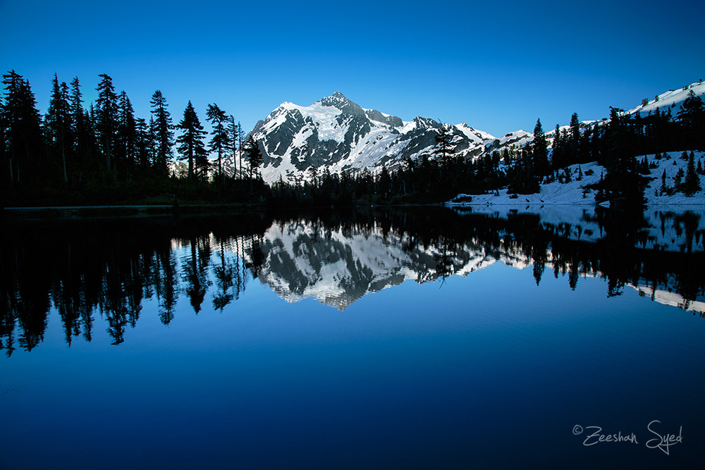 Photograph Reflection at Picture Point - Mount Shuksan by Zeeshan Syed on 500px