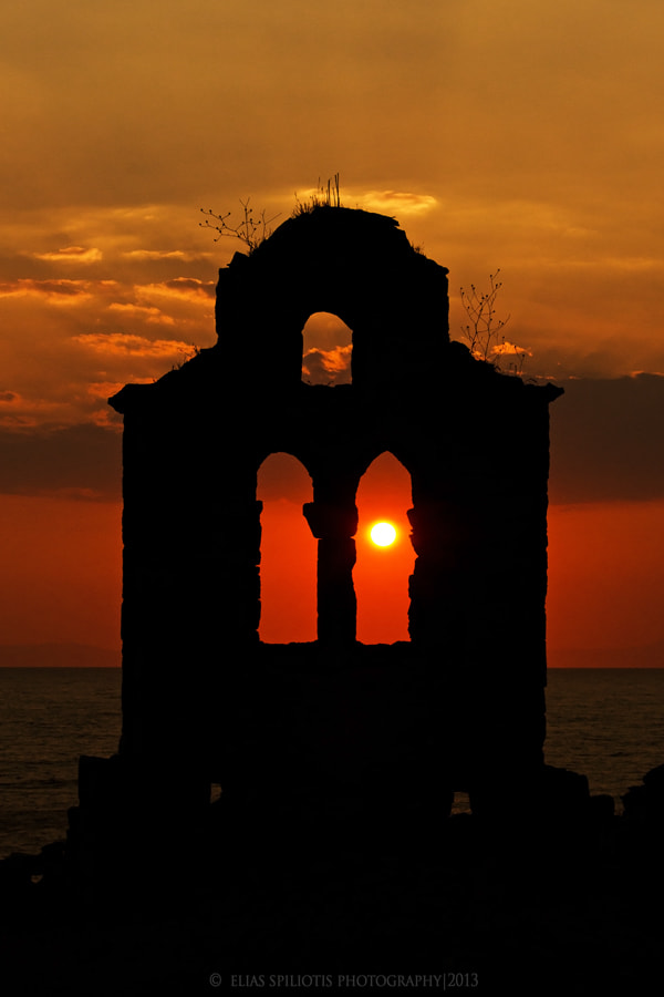 Photograph Sunset through the ruins... by Elias Spiliotis on 500px