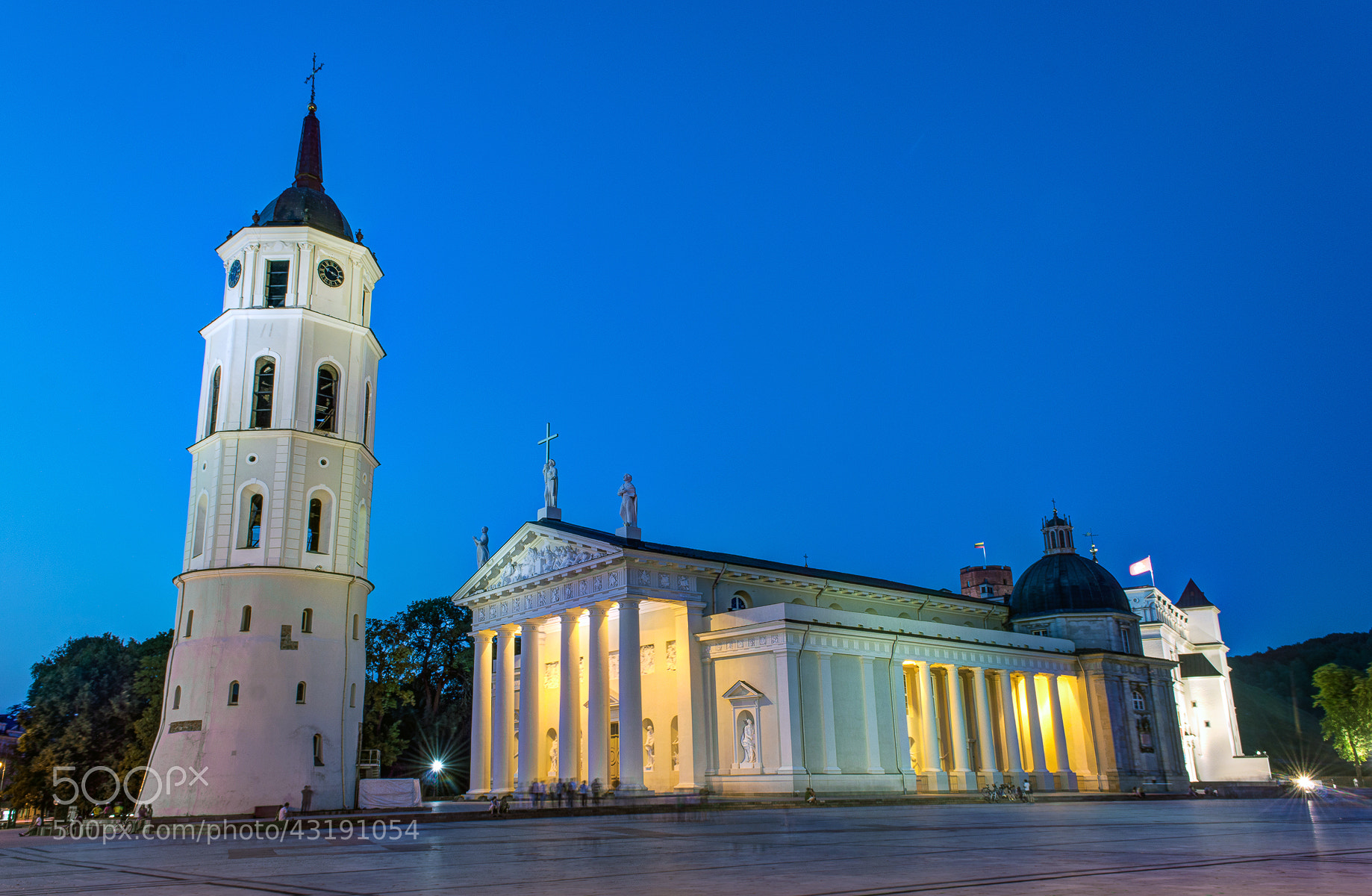 Photograph Cathedral Square in Vilnius by Norbert Durko on 500px