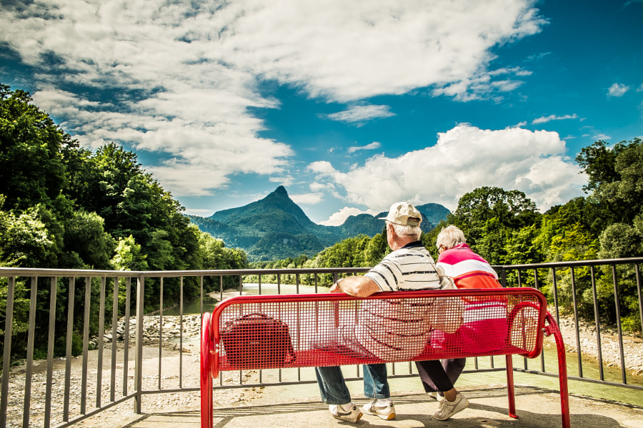 Photograph Bank sitting @ Bad Reichenhall by Jaime Peralta on 500px
