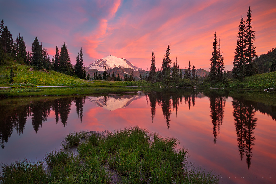 Photograph Rainier Reflection at Sunrise by Sean Bagshaw on 500px