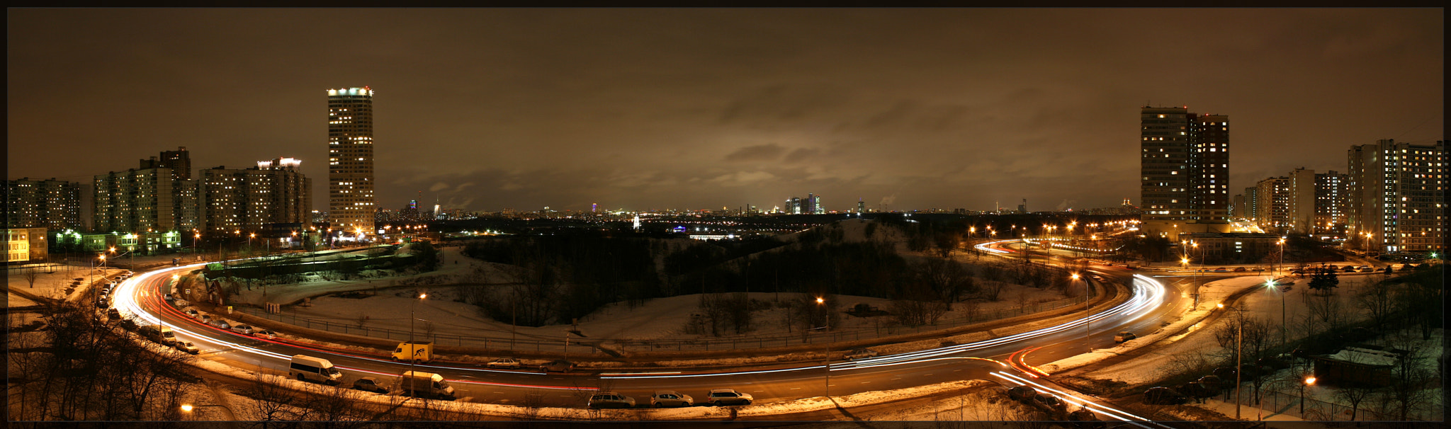 Photograph Panorama of evening Moscow by Milarepa Records on 500px