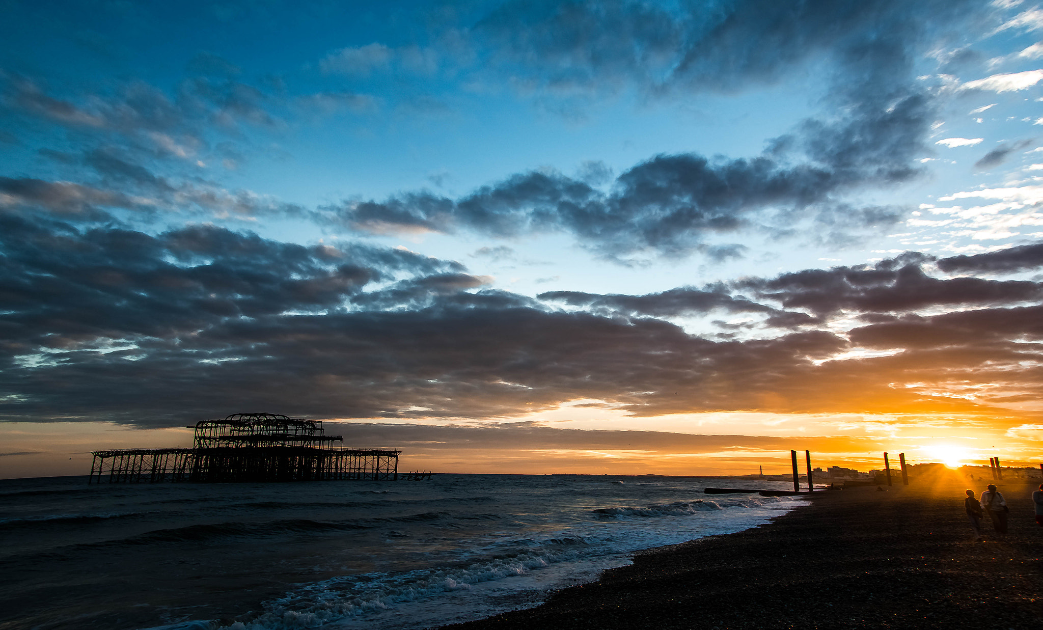 Photograph The West Pier at Sunset, Brighton by julian john on 500px