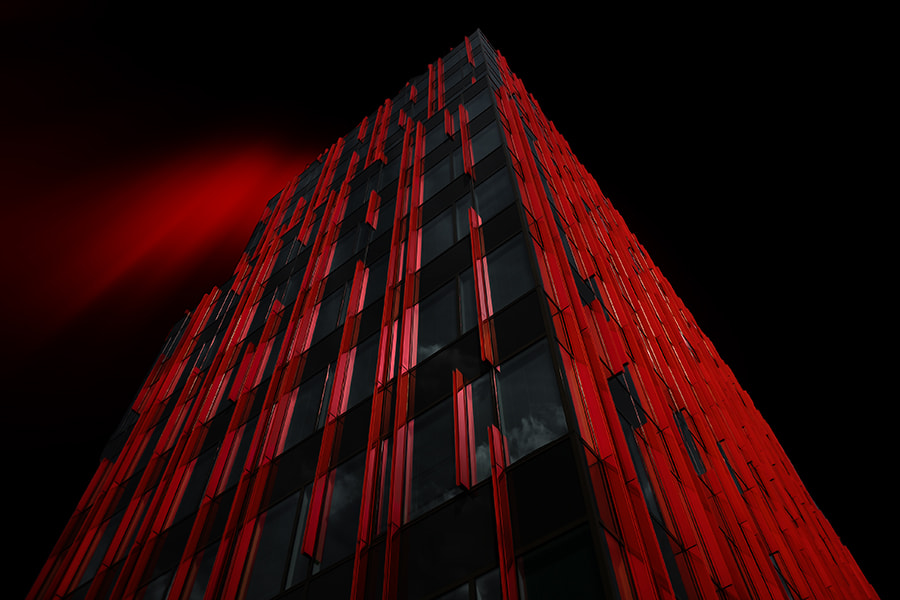 Photograph red tower by Gilbert Claes on 500px
