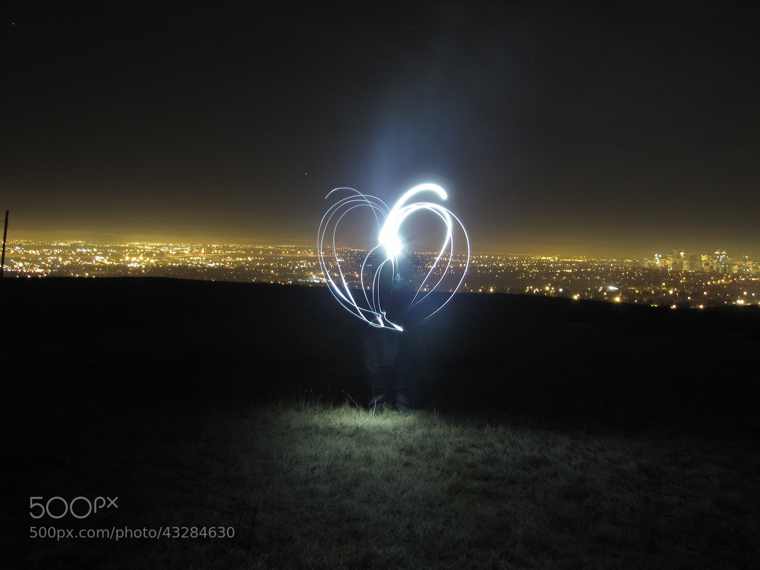 Photograph Light painting above Calgary by Alex Flint on 500px